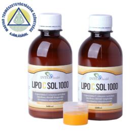 2 db InterHealth Lipo C Sol 1000 folyékony liposzómás C vitamin 500 ml + választható AJÁNDÉK