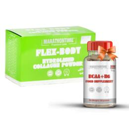 Marathontime Flex-Body collagen italpor 21 tasak + Ajándék BCAA+B6 kapszula 100 db