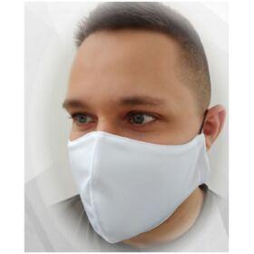 Higiéniai textil szájmaszk (dupla rétegű, mosható, újra felhasználható) - gumis