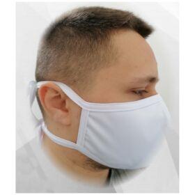 Higiéniai textil szájmaszk (dupla rétegű, mosható, újra felhasználható) - kötős