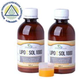 2 db InterHealth LipocSol 1000 folyékony liposzómás C vitamin 500 ml + választható AJÁNDÉK