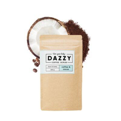 Dazzy kávés arc és testradír - kókuszos 200 g