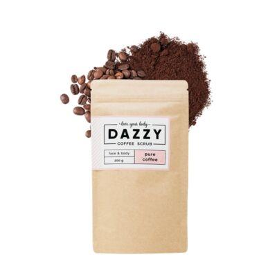 Dazzy kávés arc és testradír - tiszta kávés 200 g