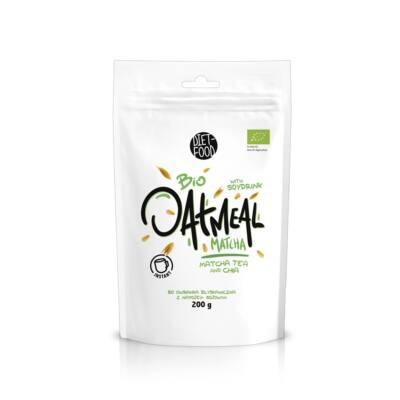 Diet Food Bio instant zabkása Matchával 200 g