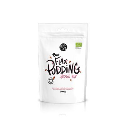 Diet Food Bio Flax Pudding Rose Hip Instant Lenmag puding csipkebogyóval 200 g