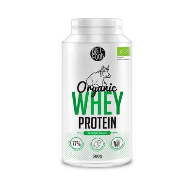 Diet Food bio tejsavó fehérje bio zöld keverékkel 500 g