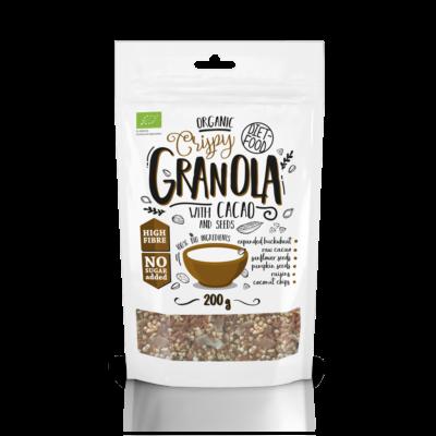 Diet Food Bio granola kakaóval 200 g