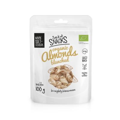 Diet Food Természetes Bio egész mandula hántolt (fehér) 100 g
