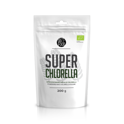 Diet Food Bio super Chlorella alga por 200 g