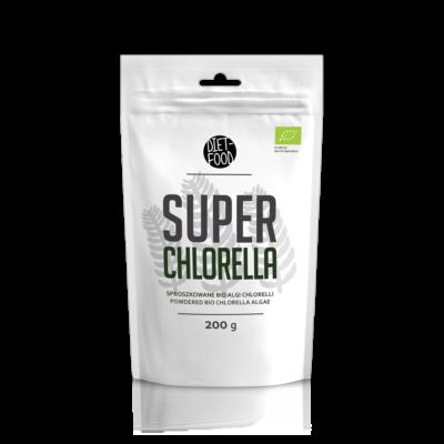 Diet Food Bio super Chlorella alga por 200 g