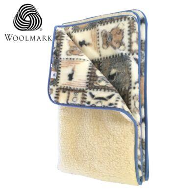 Wallmark jelzésű gyapjú derékalj macis mintás