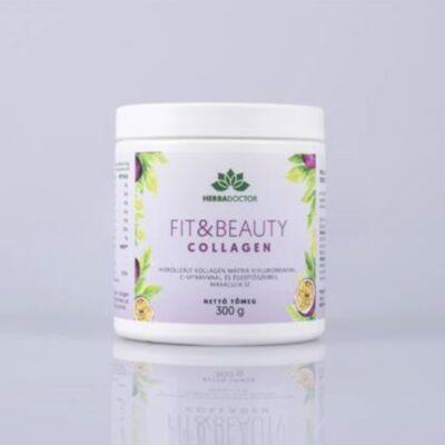 HerbaDoctor Fit & Beauty prémium hidrolizált kollagén mátrix maracuja íz 300 g