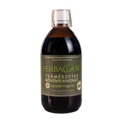 """HerbaClass természetes növényi kivonat - """"40"""" + kendermagolaj 500 ml"""