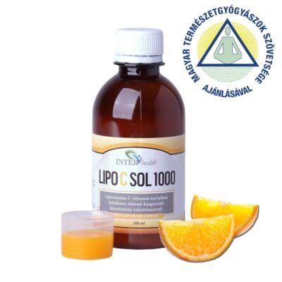 Interhealth Lipo C Sol 1000 folyékony liposzómás C vitamin 500 ml