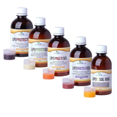 Tetszőlegesen választható 4 db-os Interhealth liposzómás csomag + Ajándék 250 ml LipocSol 1000