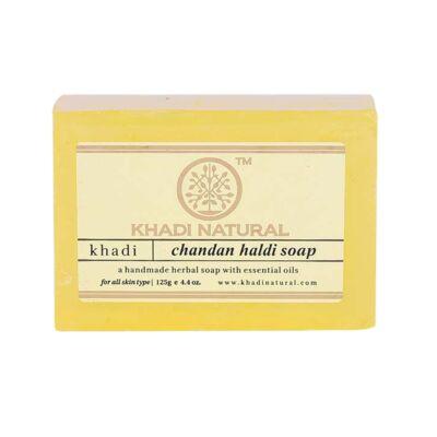 Khadi Natural Chandan Haldi Szantálfa kurkuma szappan 125 g
