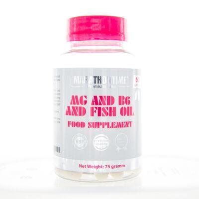 Marathontime Mg+B6 halolajban lágyzselatin kapszula 60 db