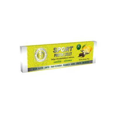 Naja Forest Sport Vegán Protein szelet belga étcsokoládéval mártva citromos-vaníliás 30 g