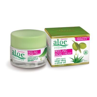 Aloe Treasures Peeling arckrém 50 ml