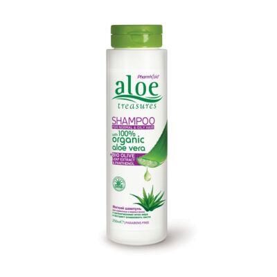 Aloe Treasures Sampon normál és zsíros hajra 250 ml