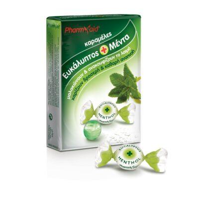 Pharmaid eukaliptuszos és mentholos torok cukorka 45 g