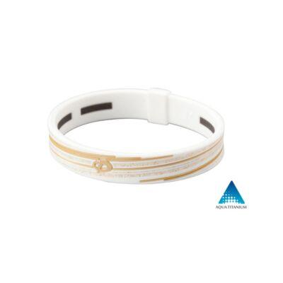 Phiten RAKUWA S-SLASH karkötő 17 cm fehér-arany