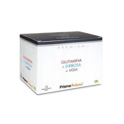 PrismaNatural Premium Glutamina +D-Ribos + MSM étrendkiegészítő